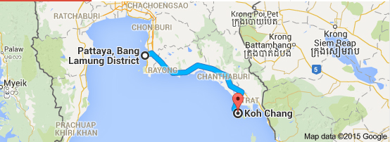 Pattaya to Koh Chang We Love Koh Chang