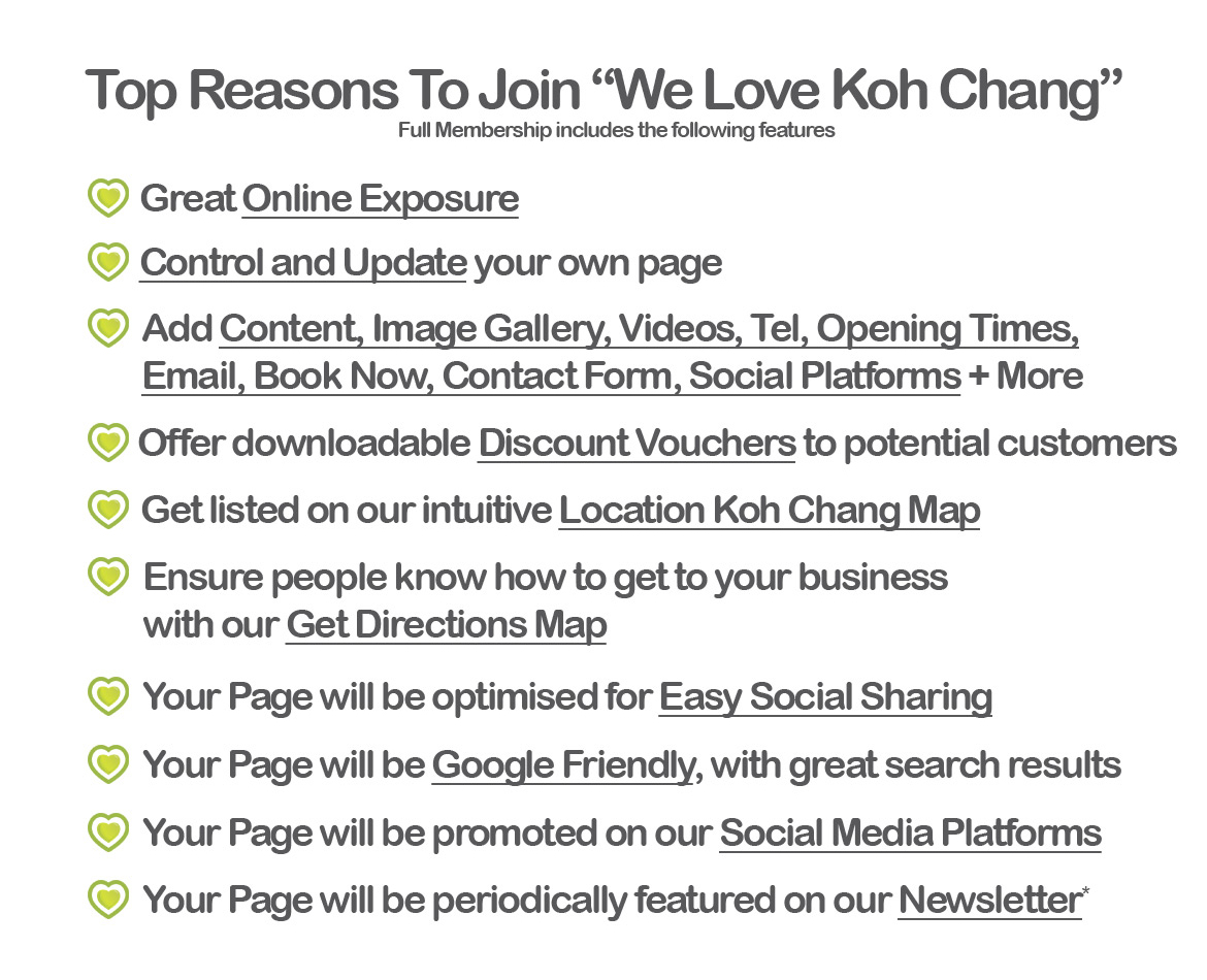 reasons to join we love koh chang